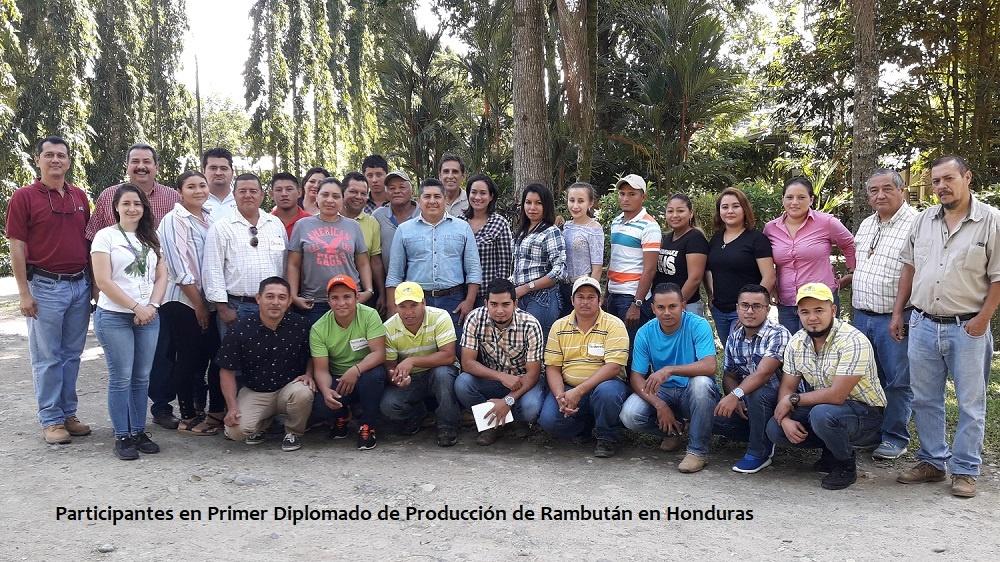 Clausura de Primer Diplomado Producción de Rambután en Honduras