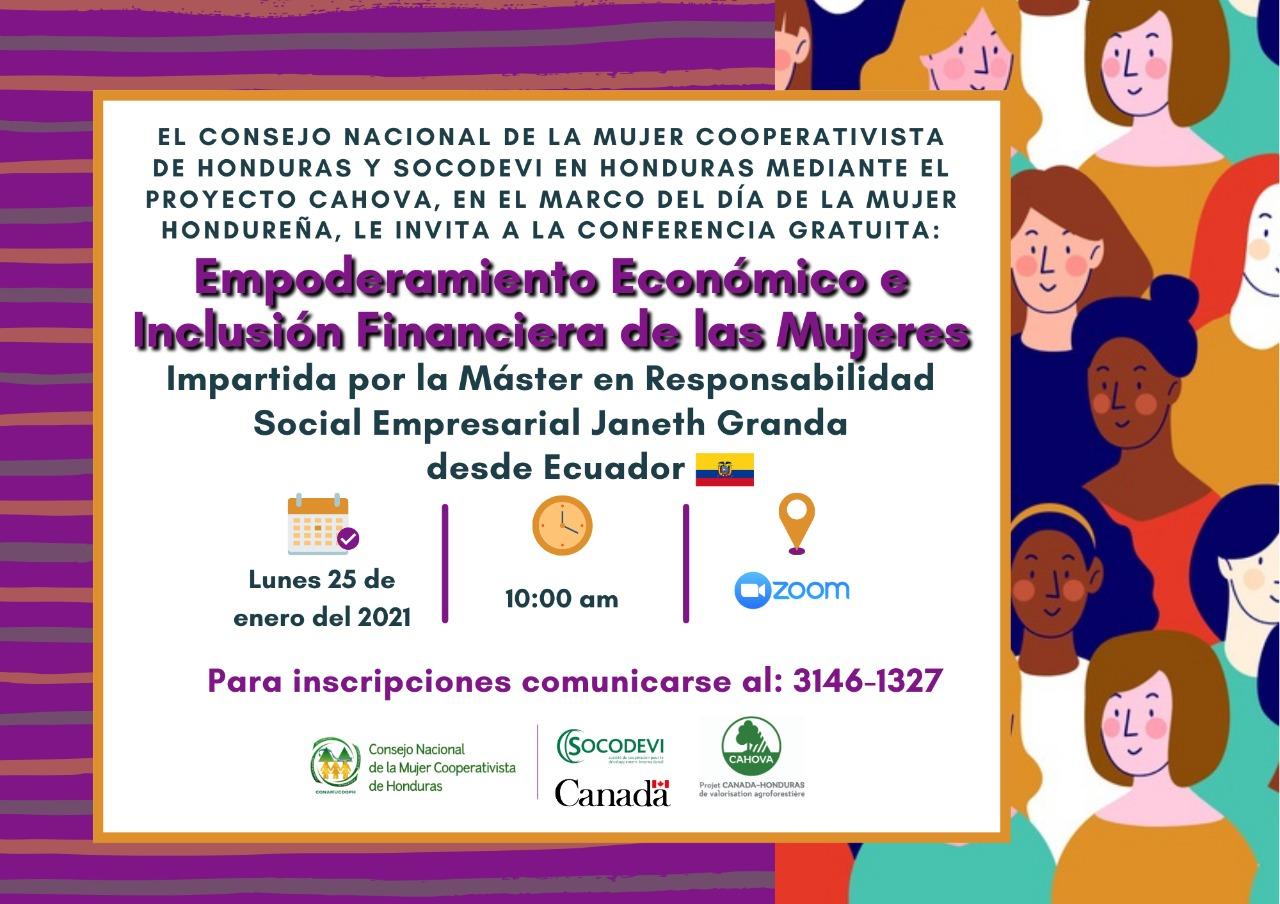 CONAMUCOOPH y SOCODEVI en Honduras le invitan: